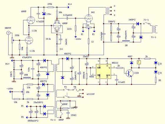 Схема лампового гитарного